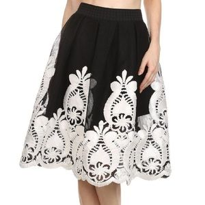 Dresses & Skirts - DEPRI SKIRTS/Depri embroidered lace, flared skirt